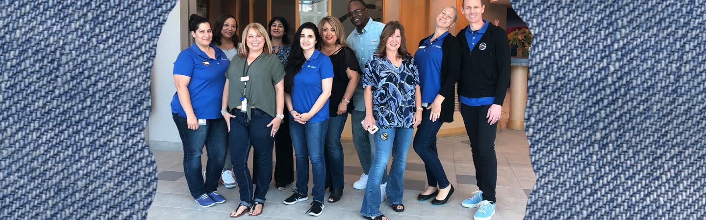 SafeAmerica Credit Union employees wearing jeans for Miracle Jeans Day