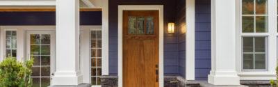 Front door of home