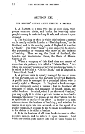 Elements of Banking 1