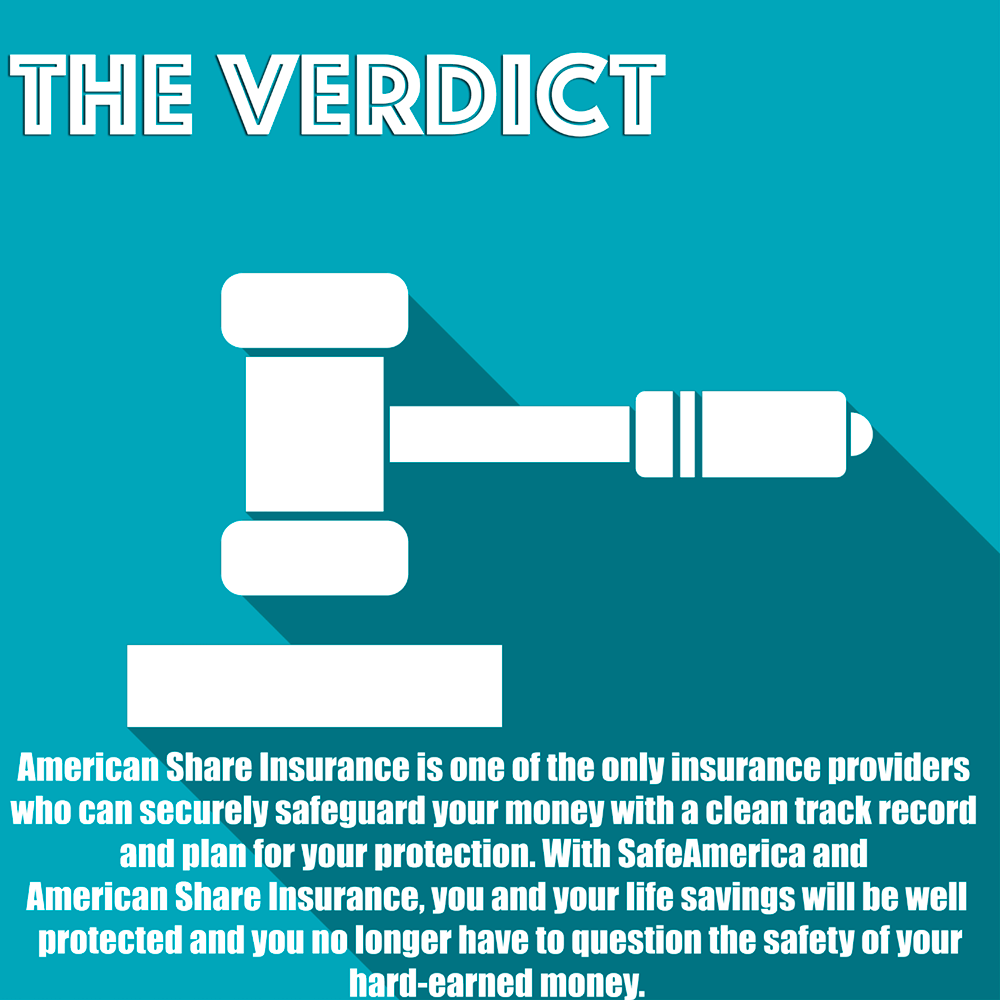 American Share Insurance is one of the only insurance providers who can securely safeguard your money with a clean track record and plan for your protection.