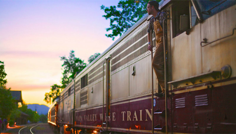 Photo of the Napa Wine Train in Napa Valley, California